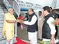 The Prime Minister, Shri Narendra Modi being received by the Governor of Maharashtra, Shri K. Sankaranarayanan, on his arrival, at Mumbai airport, in Maharashtra on August 16, 2014.jpg
