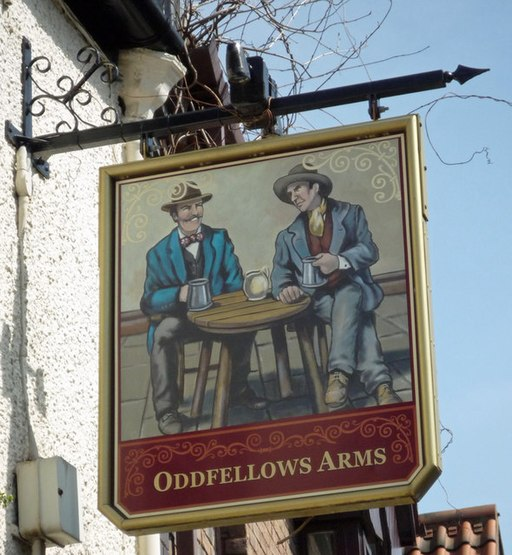 The Sign of the Oddfellows Arms - geograph.org.uk - 789077