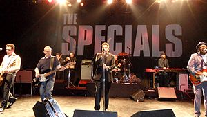 The Specials on stage in Chicago, Illinois, March 2013