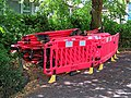 The Stow, Harlow, Essex, England - stacked plastic barrier.jpg