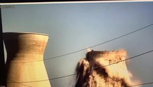 קובץ:The collapse of the eastern cooling tower Bazan Group, Haifa, Israel.ogv