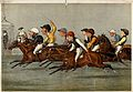 The finishing line at a horse race; ten portrait caricatures Wellcome V0023278.jpg