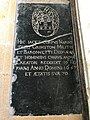 The grave of Sir Harbottle Grimston, Ist Baronet, in the chancel of St Lawrence's Church, Bradfield, Essex.jpg