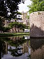 The moat at the Bishop's Palace, Wells - geograph.org.uk - 217693.jpg
