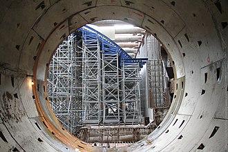Borisovo (Moscow Metro) - Image: The subway construction process in Russia Строительство станции метро Борисово в Москве