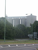 The sugar factory silos An imposing view - from Tesco's car park
