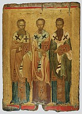 The three Hierarchs, from Thessaloniki (Byzantine and Christian Museum).jpg