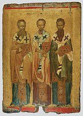 Τρεις Ιεράρχες (14ος αι) Βυζαντινό Μουσείο Αθηνών
