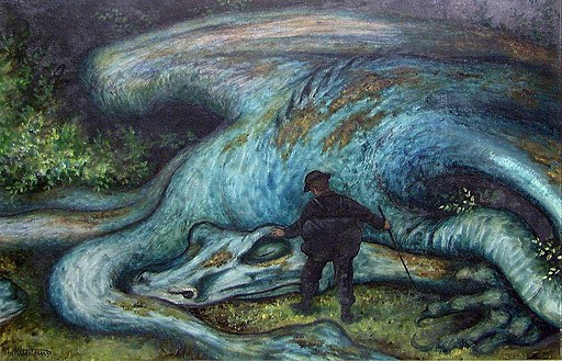 Theodor Kittelsen - The Ash Lad and the Dragon - NG.M.00552 - National Museum of Art, Architecture and Design