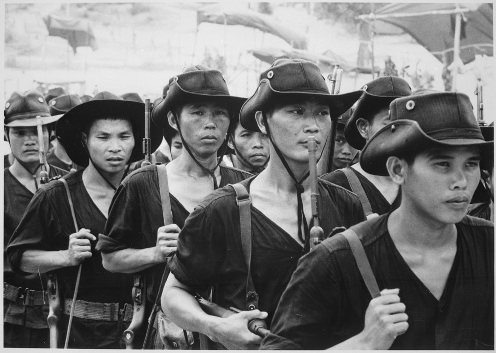 These young men, from all of South Vietnam's 44 provinces, will return to their native villages after 13 weeks' training - NARA - 541858