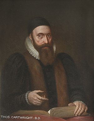 Thomas Cartwright (theologian) - Portrait by Gustavus Ellinthorpe Sintzenich, Mansfield College
