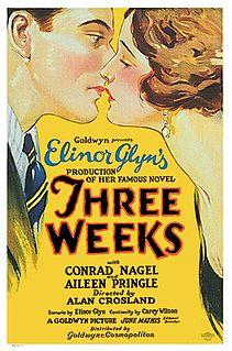 <i>Three Weeks</i> (film) 1924 film by Alan Crosland