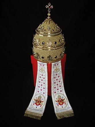 Papal tiara - Tiara presented to Pope Benedict XVI in 2011 by some German Catholics, but not used by him