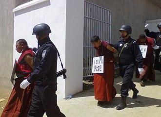 2008 Tibetan unrest - Tibetan monks arrested in April, 2008