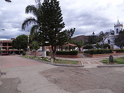 Central square of Tinjacá