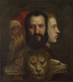 Titian and workshop - An Allegory of Prudence - Google Art Project