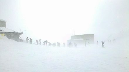 Blizzard into Tochal Skiing resort, Tehran and involved skiers. Tochal sport complex 16.jpg