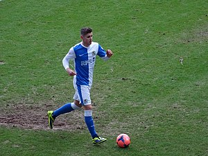 Tom Cairney - Cairney playing for Blackburn Rovers in 2014.