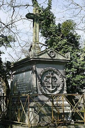 Christophe de Chabrol de Crouzol - Tomb of Christophe de Chabrol de Crouzol at Paslières