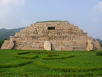 "Jangsu of Goguryeo - The ""Tomb of the General"" in Ji'an, China, former capital of Goguryeo. Chinese scholars posit this to be the tomb of King Jangsu and his consort, though many Korean scholars argue Jangsu's tomb is in Pyongyang, where Jangsu had moved the capital in 427 (July 2010)."