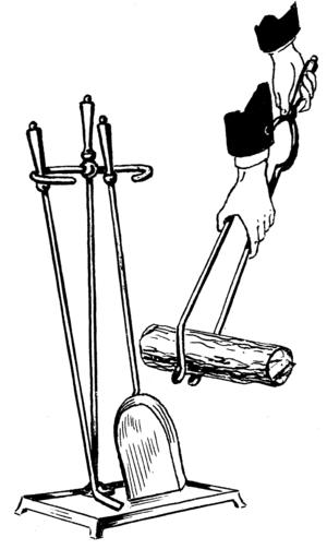Line art drawing of tongs