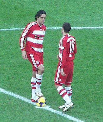 Luca Toni - Toni and Miroslav Klose against Hertha Berlin in 2009.