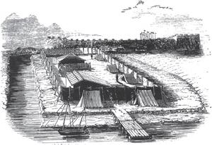 Qishan (Manchu official) - Encampment at Toong-Koo, one of several places where Qishan met British Plenipotentiary Charles Elliot.