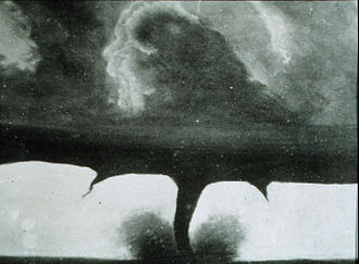 1884 Howard, South Dakota tornado - Photograph of the Howard tornado of August 28, 1884, by F.N. Robinson