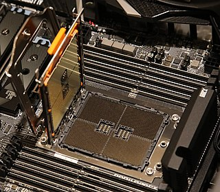 Socket TR4 CPU socket for first- and second-generation AMD Ryzen Threadripper processors