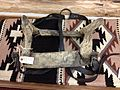 Traditional Flathead riding and packing saddle and saddle blanket.JPG
