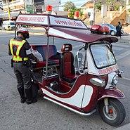 Traffic police tuk tuk Chiang Mai