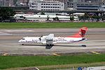 TransAsia Airways ATR 72-212A B-22821 Departing from Taipei Songshan Airport 20150908b.jpg