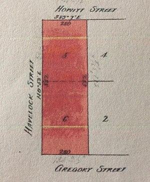 "Trelawny, Black Hill, Ballarat - The allotments of the ""Trelawny"" property in 1909"