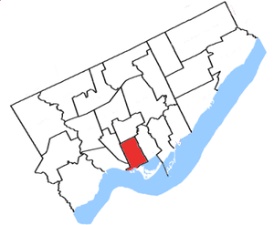 Trinity—Spadina - The boundaries in place from 1996 to 2003