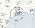 Tropical Storm Bertha analysis 10 Aug 1957.png