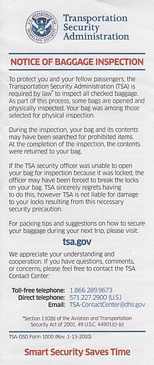 Notice of Baggage Inspection Tsa notice of baggage inspection.jpg
