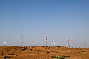 Wind power in India - A wind farm in Rajasthan
