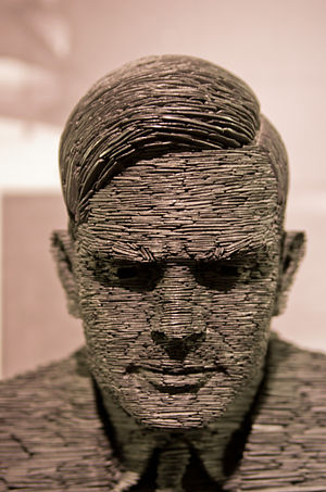 Turing Award - Stephen Kettle's slate statue of Alan Turing at Bletchley Park