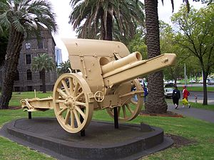 Charge at Huj - Turkish gun captured during the charge, now at Victoria Barracks, Melbourne.