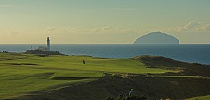 Turnberry Golf Course, Lighthouse and Ailsa Craig - geograph.org.uk - 164311.jpg