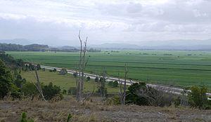 Tweed Shire - Pacific Motorway and Tweed Valley viewed from Duranbah