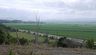 Tweed Shire - Pacific Motorway and Tweed Valley viewed from Duranbah