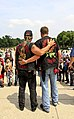 Two Vietnam veterans stand arm and arm on the steps of the Lincoln Memorial, 2011.jpg