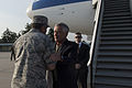 U.S. Defense Secretary Chuck Hagel, right, speaks with U.S. Air Force Gen. Philip M. Breedlove, NATO's supreme allied commander for Europe and commander of U.S. European Command, as he arrives in Stuttgart, Ger 140806-N-AF077-0421.jpg