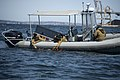 U.S. Sailors with Mobile Diving Salvage Unit 2 deploy an unmanned underwater vehicle May 2, 2012, in Sydney, Nova Scotia, during Frontier Sentinel 2012 120502-N-HN353-065.jpg