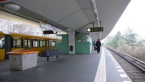 Holzhauser Straße (Berlin U-Bahn) - Platform of the station
