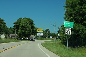 Banner, Illinois - Image: US24 East Banner Illinois Sign (41149632200)