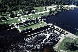 Okeechobee Waterway canal in Florida, United States of America