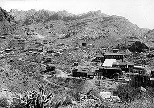 Oatman, Arizona - Mines and mills of the Oatman district, c. 1921