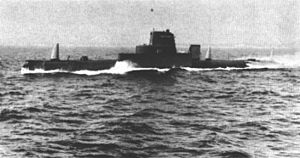 Gato-class submarine - Grouper after conversion to a sonar test submarine.